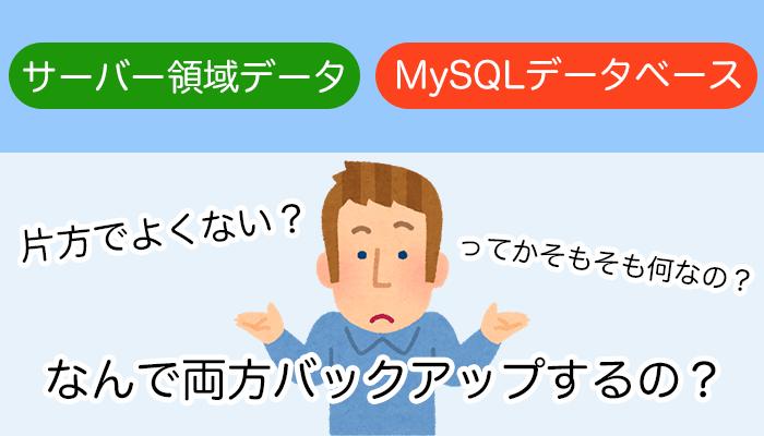 「サーバー領域データ」と「MySQLデータベース」って何?